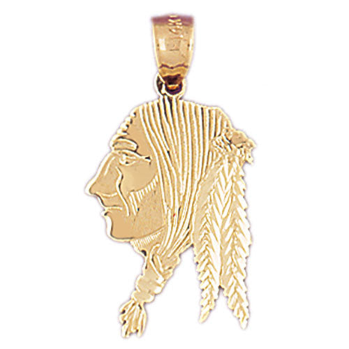14K GOLD CHARM - AMERICAN INDIAN #5270