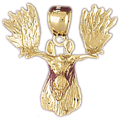 ALASKA CHARMS, 14K YELLOW GOLD  - ELK #5348