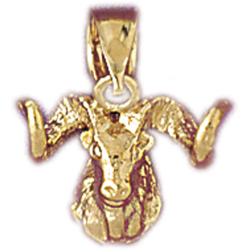 Nice 14k Gold European Mouflon Sheep Charm #5349