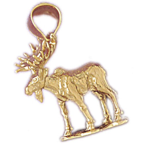 ALASKA ELK 14K YELLOW GOLD CHARM #5350