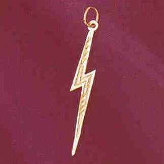 14K GOLD CHARM - FORKED LIGHTNING #5688