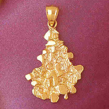14K GOLD NUGGET CHARM #5754