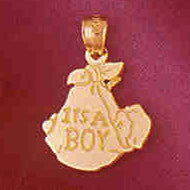 14K GOLD BABY CHARM - IT'S A BOY #5905