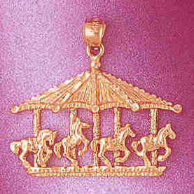 14K GOLD MISCELLANEOUS CHARM - CAROUSEL #5979