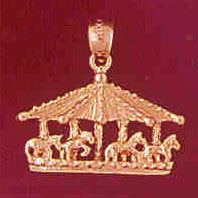 14K GOLD MISCELLANEOUS CHARM - CAROUSEL #5981