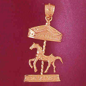 14K GOLD MISCELLANEOUS CHARM - CAROUSEL #5982