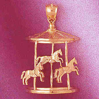 14K GOLD MISCELLANEOUS CHARM - CAROUSEL #5983
