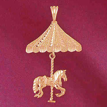 14K GOLD MISCELLANEOUS CHARM - CAROUSEL #5985