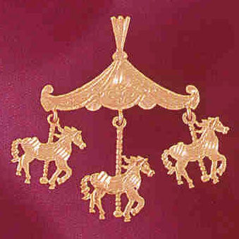 14K GOLD MISCELLANEOUS CHARM - CAROUSEL #5986