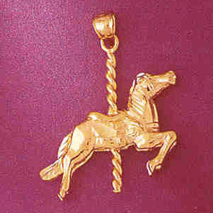14K GOLD MISCELLANEOUS CHARM - CAROUSEL #5991