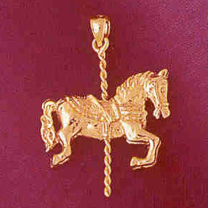 14K GOLD MISCELLANEOUS CHARM - CAROUSEL #5992