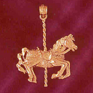 14K GOLD MISCELLANEOUS CHARM - CAROUSEL #5994
