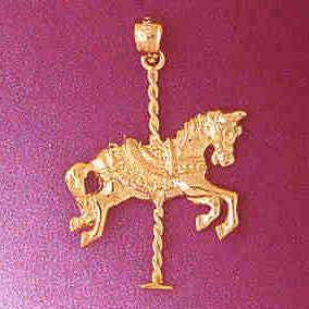 14K GOLD MISCELLANEOUS CHARM - CAROUSEL #5995