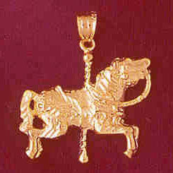 14K GOLD MISCELLANEOUS CHARM - CAROUSEL #5996
