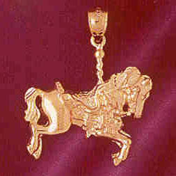 14K GOLD MISCELLANEOUS CHARM - CAROUSEL #5997