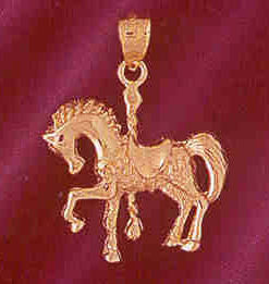 14K GOLD MISCELLANEOUS CHARM - CAROUSEL #5998
