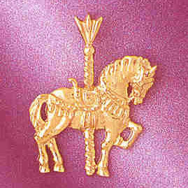 14K GOLD MISCELLANEOUS CHARM - CAROUSEL #5999