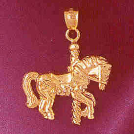 14K GOLD MISCELLANEOUS CHARM - CAROUSEL #6000