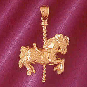 14K GOLD MISCELLANEOUS CHARM - CAROUSEL #6001