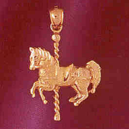 14K GOLD MISCELLANEOUS CHARM - CAROUSEL #6002