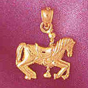 14K GOLD MISCELLANEOUS CHARM - CAROUSEL #6004