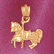 14K GOLD MISCELLANEOUS CHARM - CAROUSEL #6005