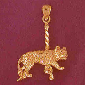 14K GOLD MISCELLANEOUS CHARM - CAROUSEL #6012