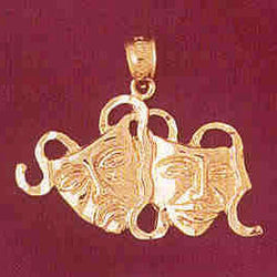 14K GOLD MISCELLANEOUS CHARM - DRAMA MASK #6086