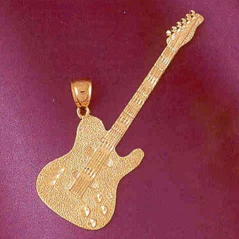 14K GOLD MUSIC CHARM - GUITAR #6207