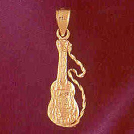 14K GOLD MUSIC CHARM - GUITAR #6216