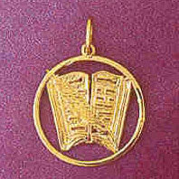 14K GOLD BOOK CHARM #6290