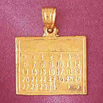 14K GOLD OFFICE CHARM - CALENDAR #6430