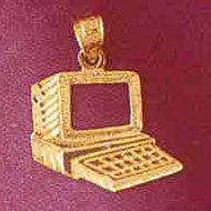 14K GOLD OFFICE CHARM - COMPUTER #6441