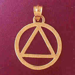 Alcoholics Anonymous Symbol 14k Gold Charm #6500