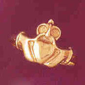 14K GOLD IRISH CLADDAH RING #7044