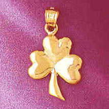 14K GOLD IRISH SHAMROCK CLADDAH CHARM #7074