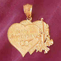 14K GOLD TALKING CHARM - HAPPY ANNIVERSARY #7129