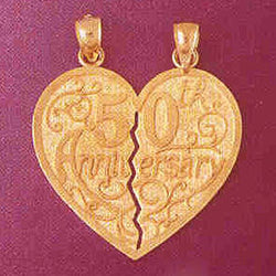 14K GOLD TALKING CHARM - 50 ANNIVERSARY #7131