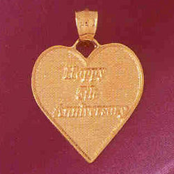 14K GOLD TALKING CHARM - HAPPY 5TH ANNIVERSARY #7132