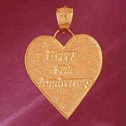 14K GOLD TALKING CHARM - HAPPY 50TH ANNIVERSARY #7133