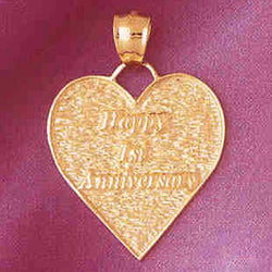 14K GOLD TALKING CHARM - HAPPY 1ST ANNIVERSARY #7134