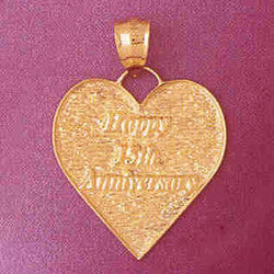 14K GOLD TALKING CHARM - HAPPY 15TH ANNIVERSARY #7135