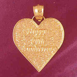 14K GOLD TALKING CHARM - HAPPY 20TH ANNIVERSARY #7136