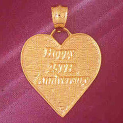 14K GOLD TALKING CHARM - HAPPY 25TH ANNIVERSARY #7137
