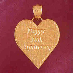 14K GOLD TALKING CHARM - HAPPY 10TH ANNIVERSARY #7138