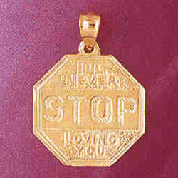 14K GOLD TALKING CHARM - I'LL NEVER STOP LOVING YOU #7140