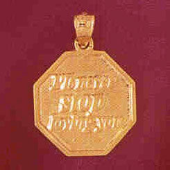 14K GOLD TALKING CHARM - I'LL NEVER STOP LOVING YOU #7143