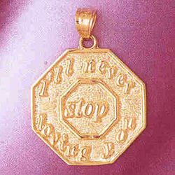 14K GOLD TALKING CHARM - I'LL NEVER STOP LOVING YOU #7144
