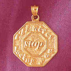 14K GOLD TALKING CHARM - I'LL NEVER STOP LOVING YOU #7145