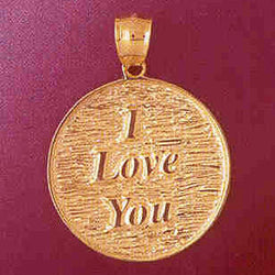 14K GOLD TALKING CHARM - I LOVE YOU #7146